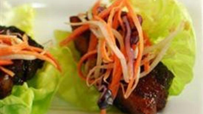Pork Belly Lettuce Bites