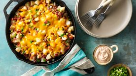 Loaded Mexican Chicken and Potato Skillet