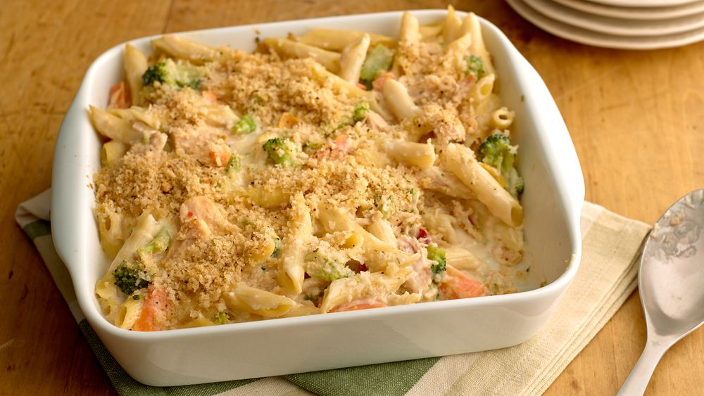 Cheesy Tuna Noodle Casserole recipe from Pillsbury.com