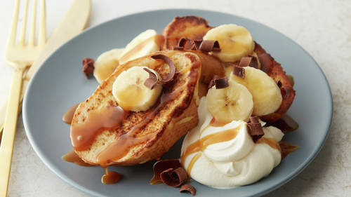 Easy French Toast, Banoffee-Style
