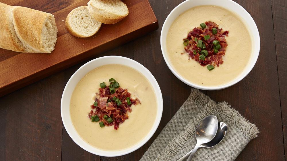 Creamy Slow-Cooker Cauliflower Soup