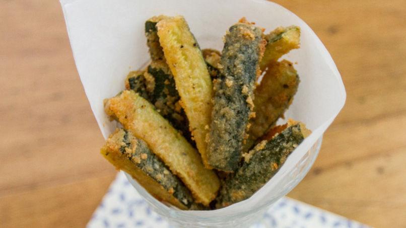 Palitos horneados de calabacín libres de gluten