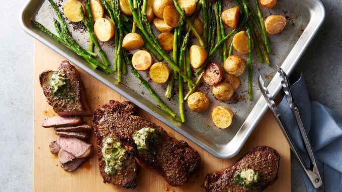 Sheet-Pan Steakhouse Dinner