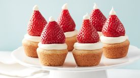 Santa Hat Sugar Cookie Cups