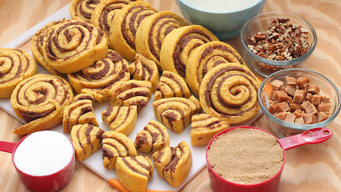 Pumpkin Cinnamon Roll Monkey Bread Recipe Pillsbury Com