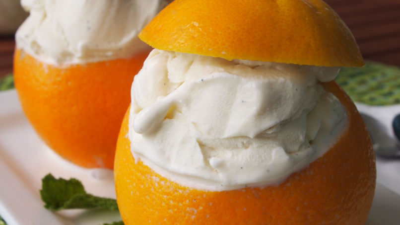 Ice Cream-Filled Oranges