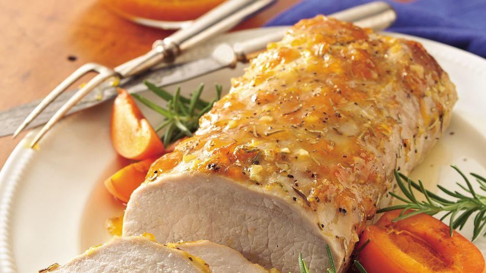 Pork Loin with Apricot-Rosemary Glaze