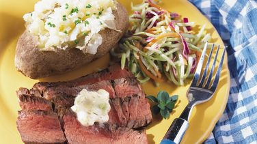 Grilled Sirloin with Bearnaise Butter