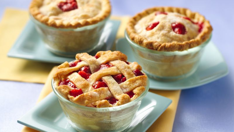 Strawberry Rhubarb Mini Pies Recipe Pillsbury