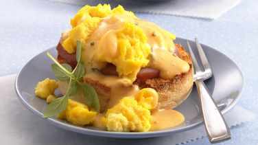 Brunch Eggs on English Muffins