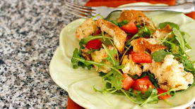 Garlic Bread Panzanella Salad