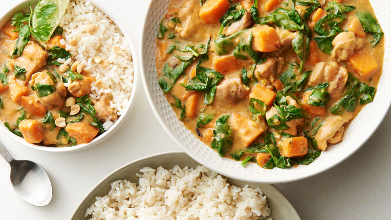 Chicken and Sweet Potato Peanut Stew