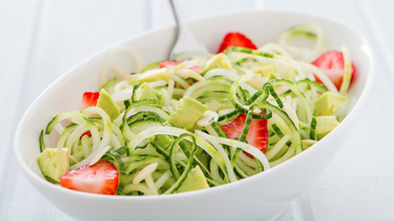 Avocado, Strawberry and Cucumber Salad