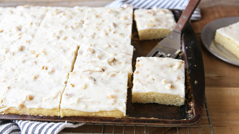 White Texas Sheet Cake Recipe BettyCrockercom