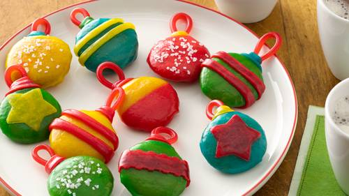 No Bake Holiday Cookie Ornaments