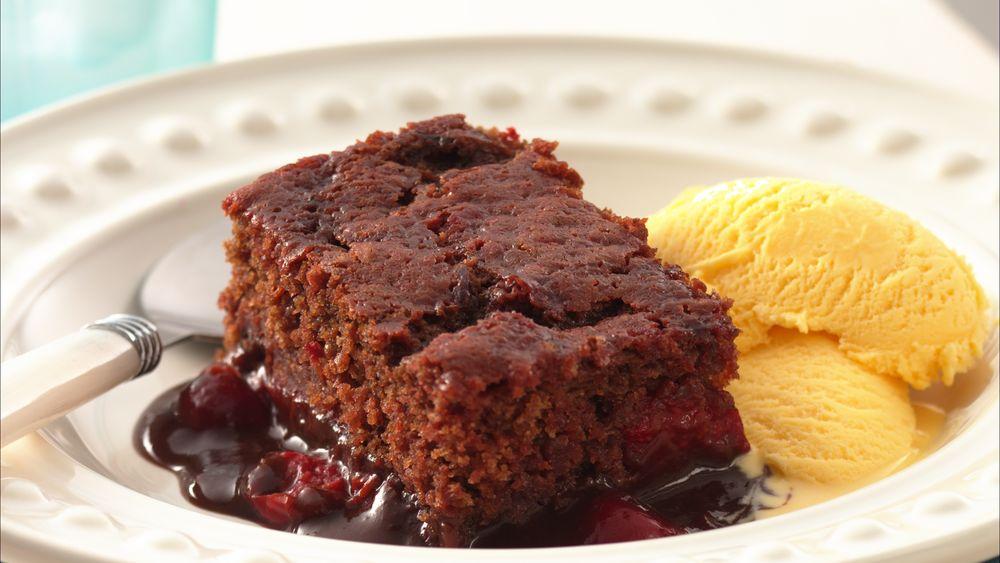 Cherry Chocolate Pudding Cake