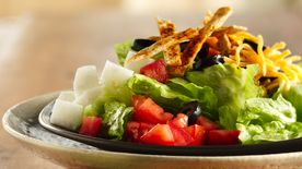 Santa Fe Salad with Tortilla Straws