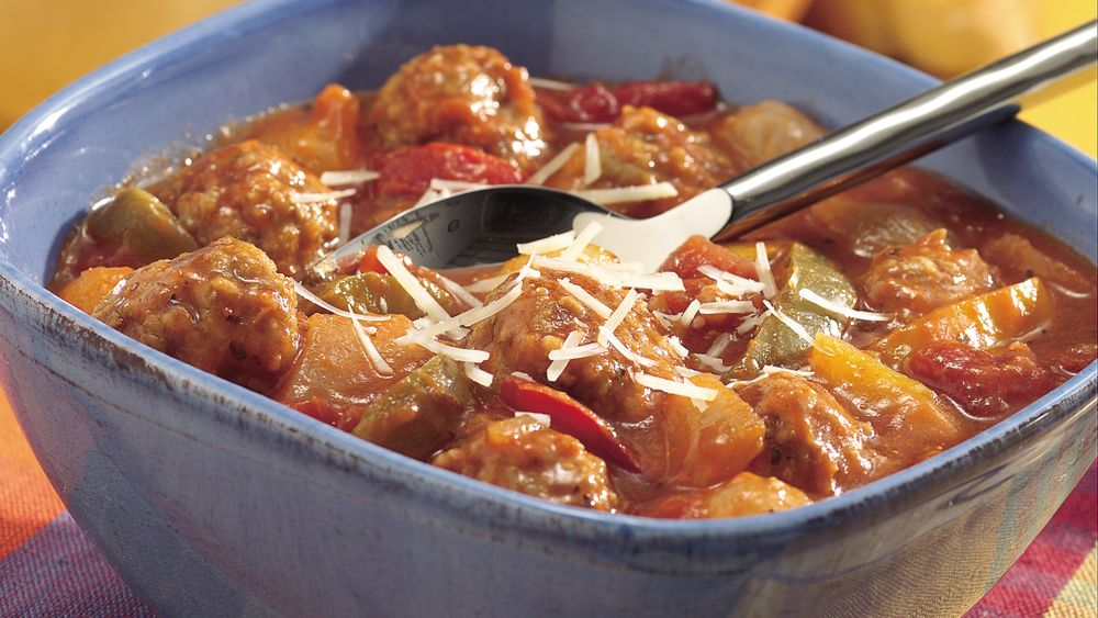 Slow-Cooker Easy Italian Meatball Stew