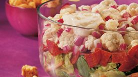 Creamy Layered Vegetable Salad