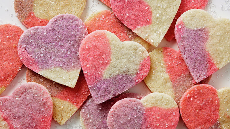 Marbled Heart Sugar Cookie Cutouts