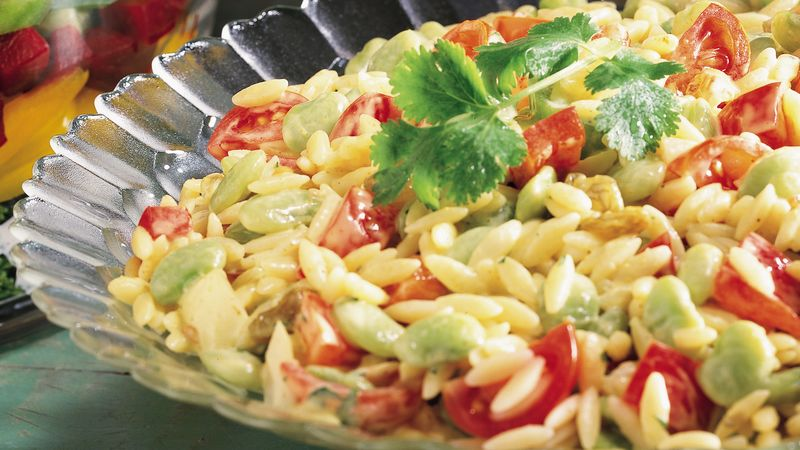 Curried Orzo and Vegetable Salad