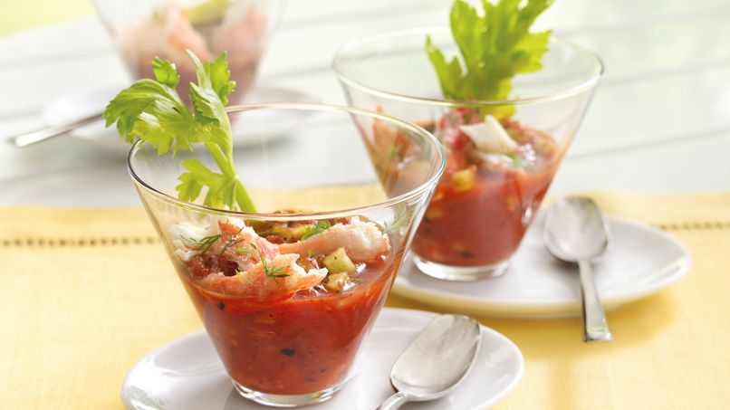 Crab Gazpacho Cocktails