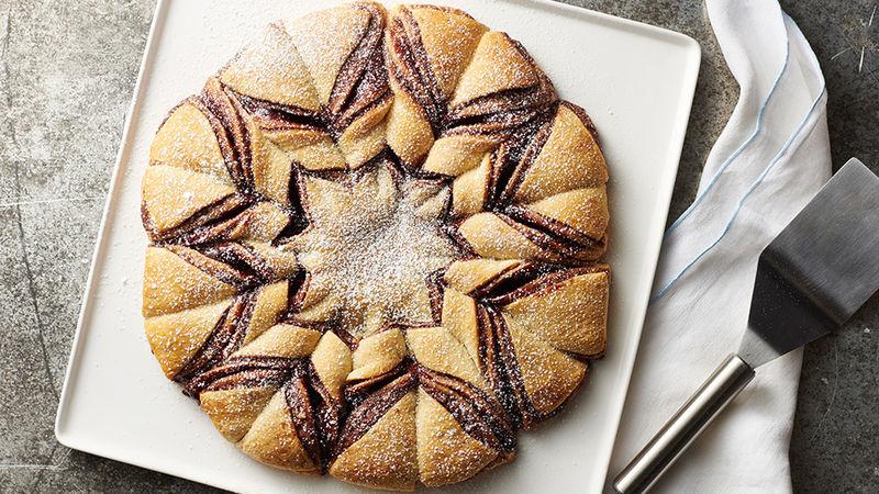 Nutella™-Raspberry Crescent Snowflake