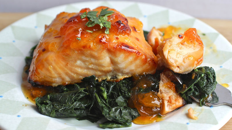 Salmon with Apricot