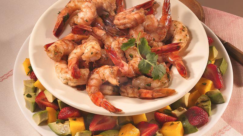 Cilantro-Marinated Shrimp with Fruit