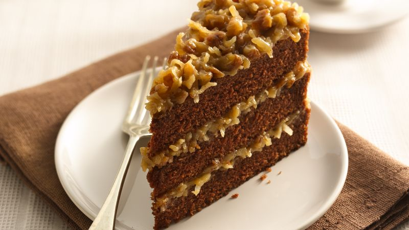 German chocolate cake recipe no coconut