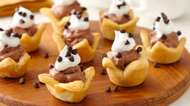 Mini French Silk Crescent Pies