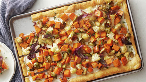 Roasted Vegetable Crescent Pizza