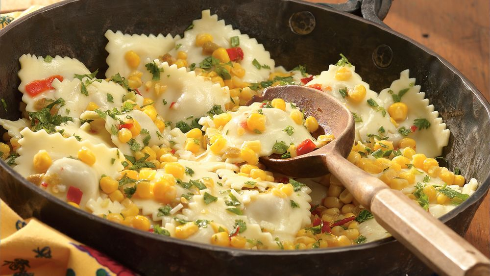 Ravioli With Corn And Cilantro