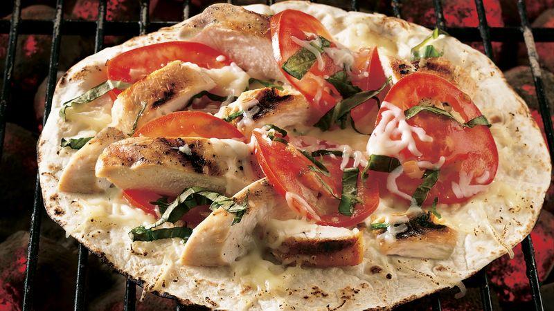 Grilled Chicken Margherita Pizzas