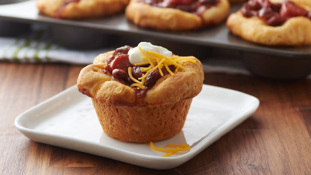 Chile Cheese Dog Biscuit Cups