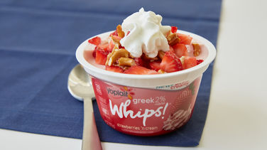 Whipped Strawberry Pretzel Cup
