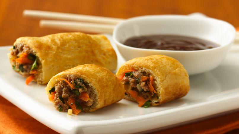 Rollos Thai de Pavo con Salsa de Cacahuate