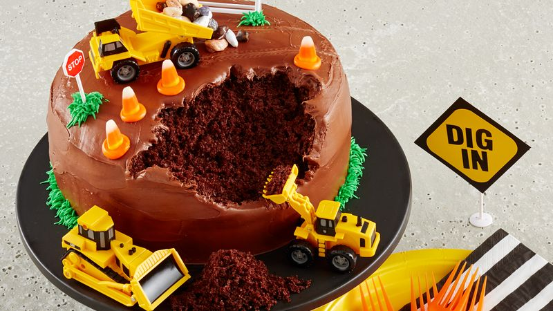 Admirable Construction Site Cake Recipe Bettycrocker Com Funny Birthday Cards Online Eattedamsfinfo