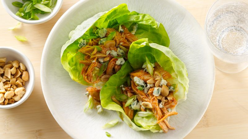 Slow-Cooker Buffalo Chicken Lettuce Wraps