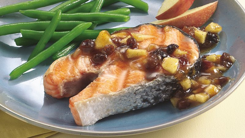 Grilled Salmon with Apricot Chutney
