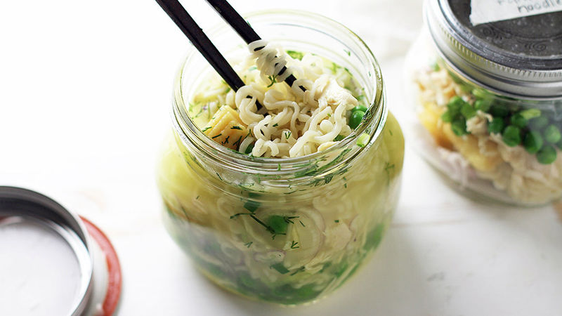 Chicken and Dill Instant Ramen Noodles