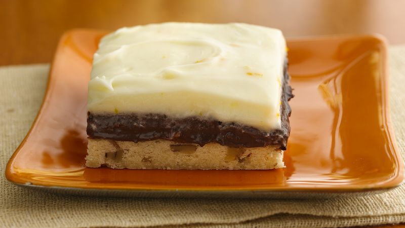 Creamy Orange-Chocolate Truffle Bars
