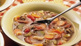 Italian Pasta, Beef and Bean Soup