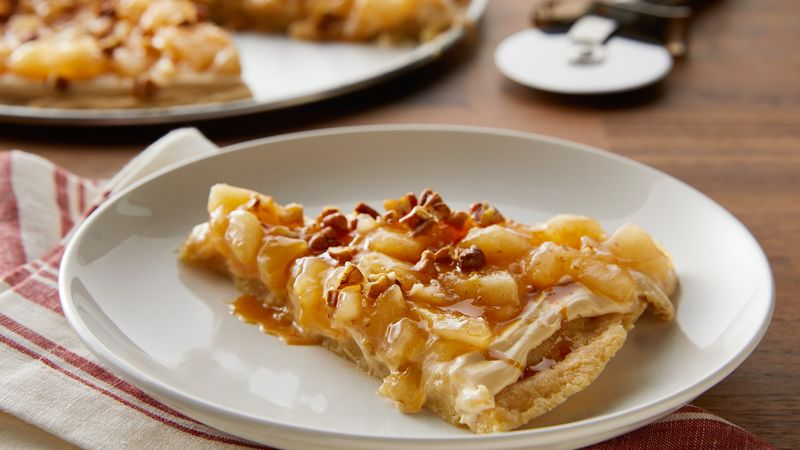 Caramel Apple Pie Cookie Pizza