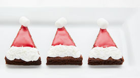 Easy Santa Hat Brownies