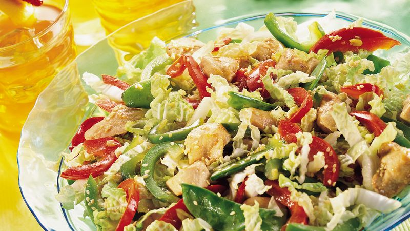 Asian Sesame Chicken Salad Recipe Pillsbury Com