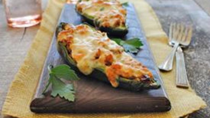 Middle Eastern Stuffed Poblano Peppers