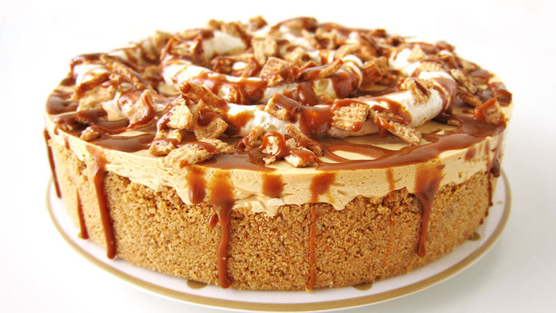 No-Bake Dulce de Leche Cheesecake Recipe - Tablespoon.com