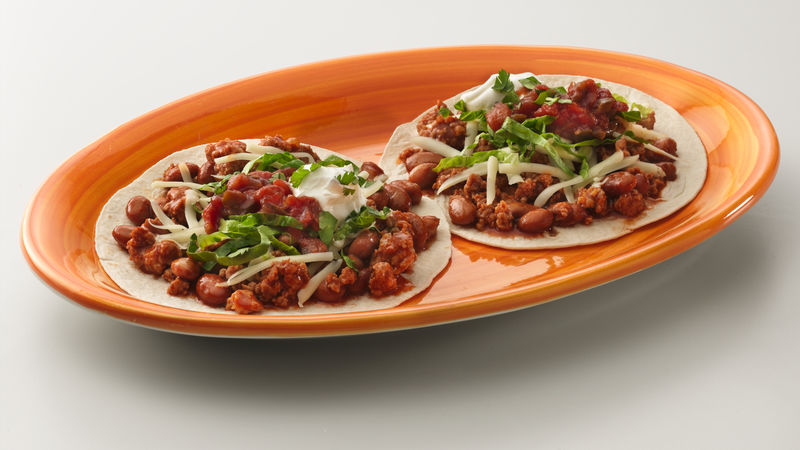 Turkey and Bean Tostadas