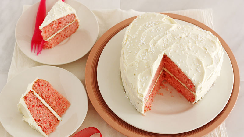 Strawberry White Chocolate Champagne Cake